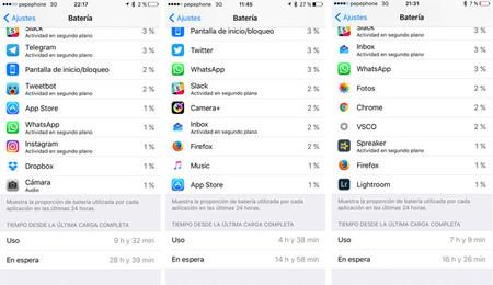 iPhone 7: estadísticas de autonomía