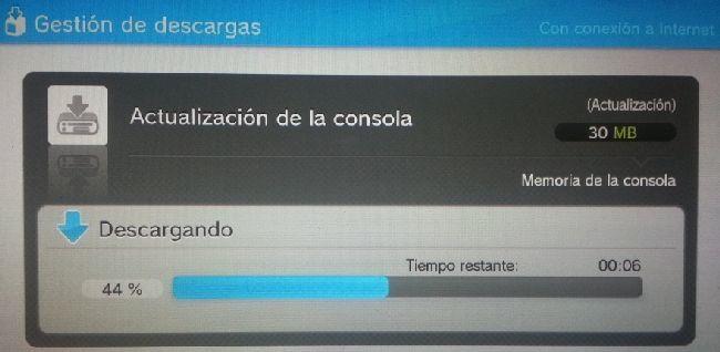 Actualización Wii U