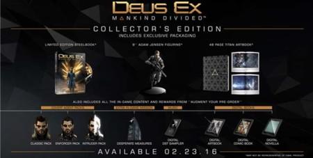 Deus Ex: Mankind Divided llegará en febrero y aquí tienen su edición de colección