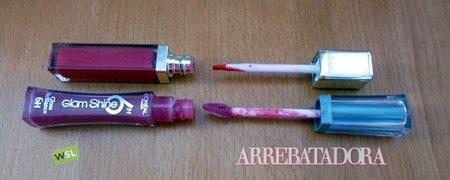 Duelo de pinceles aplicadores de gloss labial: Guerlain KissKiss vs L'Oréal Glam Shine 6H