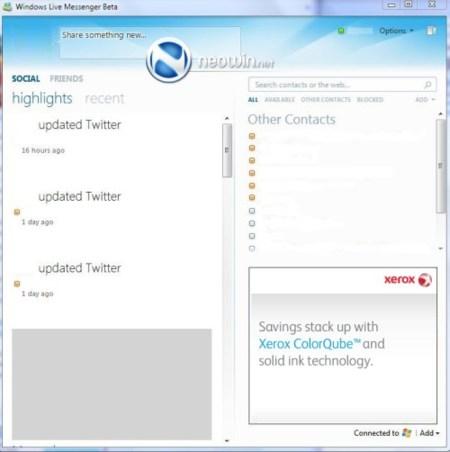 Primeras capturas de Windows Live Messenger 2010 (Wave 4)