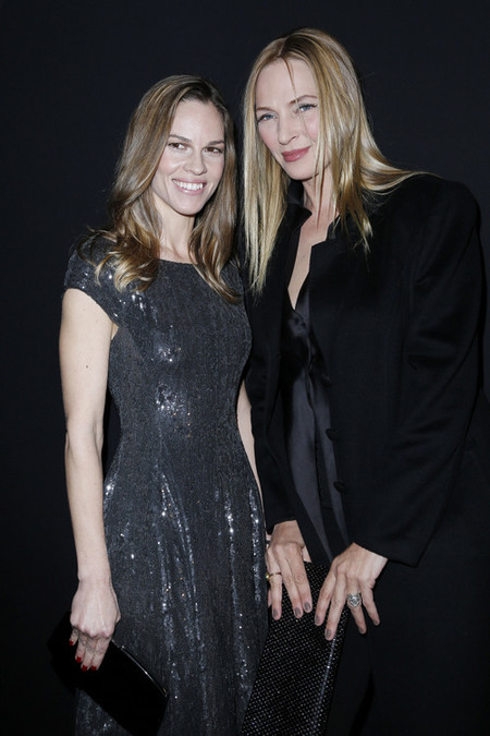 Hilary Swank y Uma Thurman