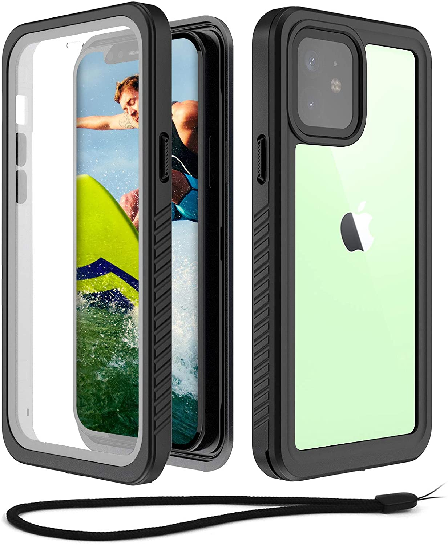 Beeasy Funda Antigolpes para iPhone 12 Mini,IP68 Certificado Sumergible Carcasa,360 Grados Protección con Protector de Pantalla Incorporado,Militar Antichoque Estanca Impermeable