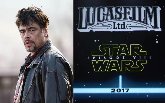 Benicio del Toro será el villano de Star Wars: Episodio VIII