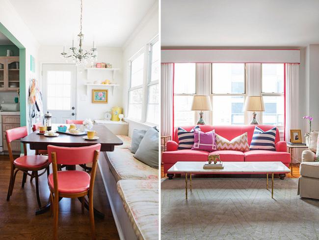 Decorar con rosa - muebles