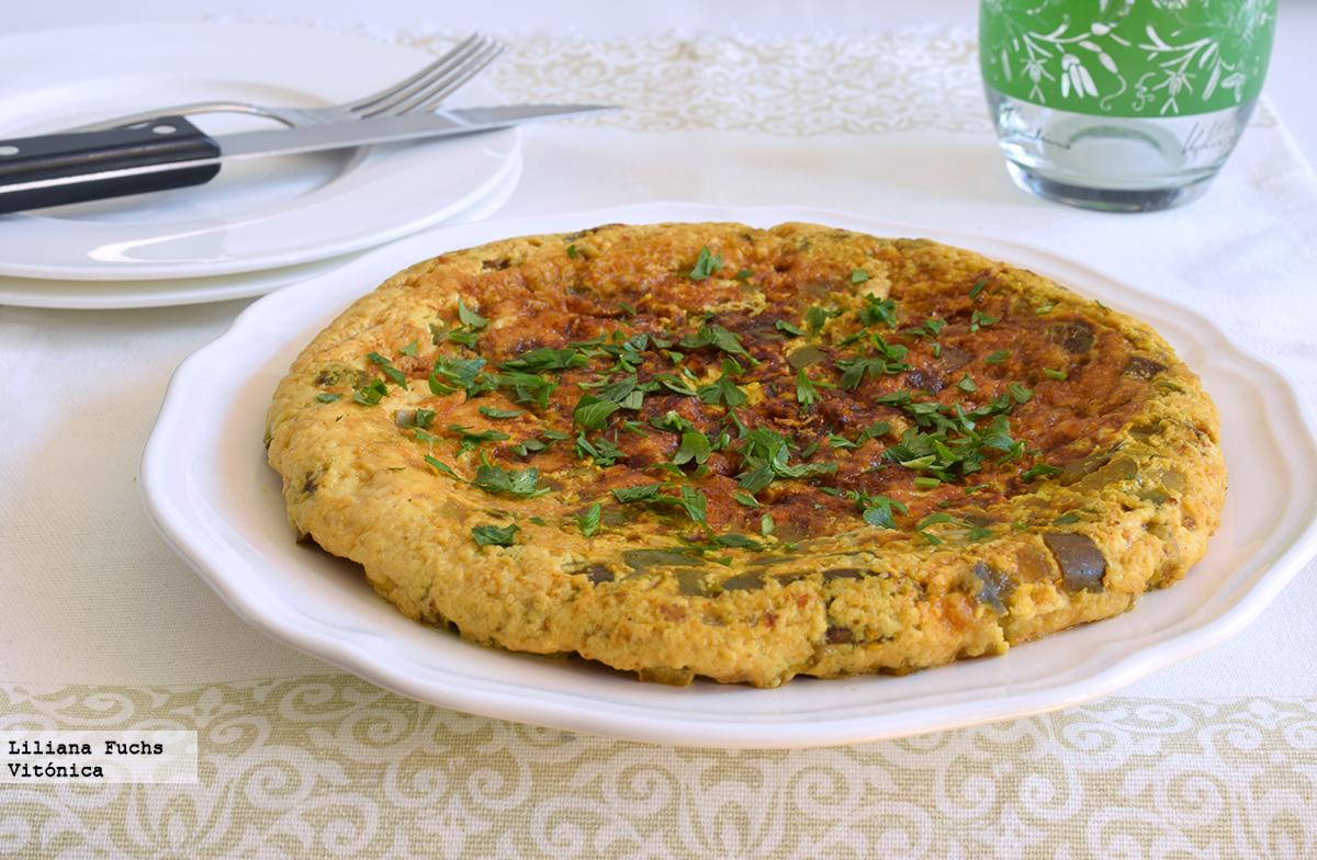 Tortilla de claras con berenjena receta saludable - Variedades de berenjenas ...