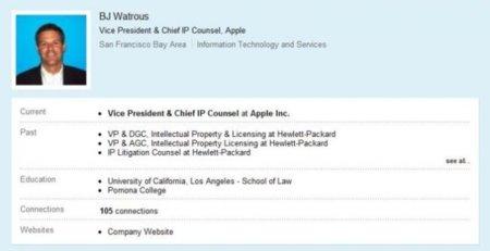 El abogado jefe de patentes de Apple deja su puesto