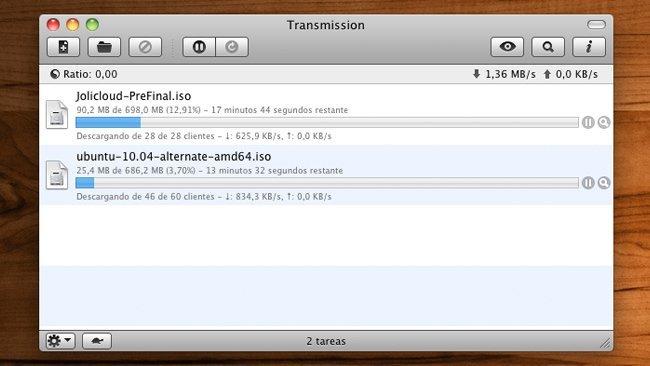 Transmission 2 en OS X