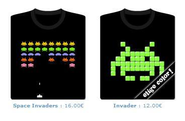 Camisetas Space Invaders