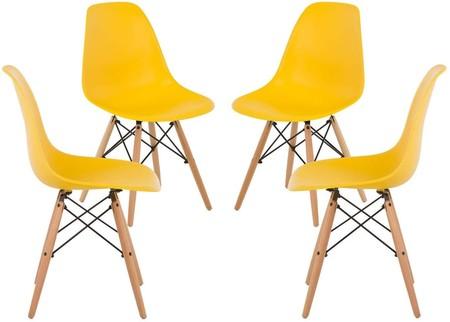 lote sillas amarillas