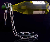 Botellero cadena, increible efecto óptico