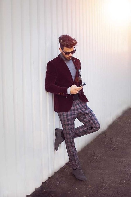 Trendencias Hombre Terciopelo Street Style 2018 09