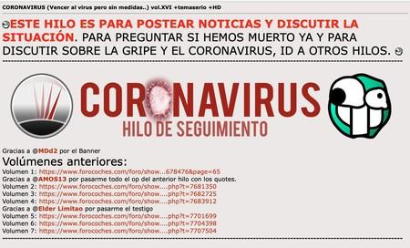 Coronavirus, o cómo Forocoches, la comunidad más troll del internet hispano, se ha puesto (un poco) seria
