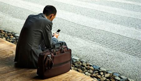 Usando el móvil