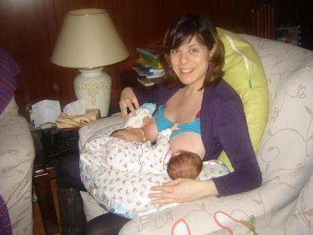 bebés gemelos prematuros amamantados