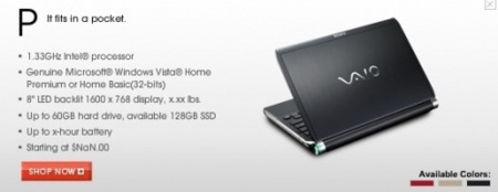 Sony VAIO Pocket: el ultraportátil de Sony
