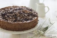 Tarta de mousse de chocolate. Receta sin horno