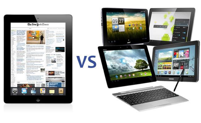 El nuevo iPad vs las tablets Android del 2012