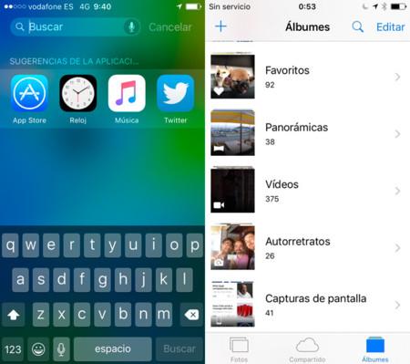iOS 9 beta 3 Búsqueda y Fotos