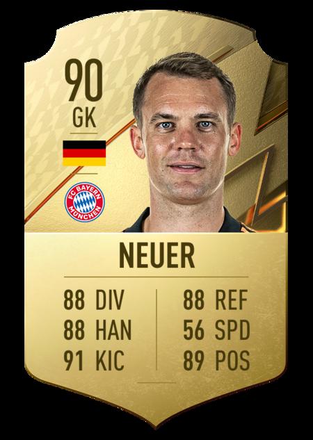 Neuer FIFA 22 mejores jugadores bundesliga