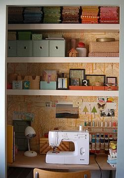 Un armario empotrado para tus manualidades