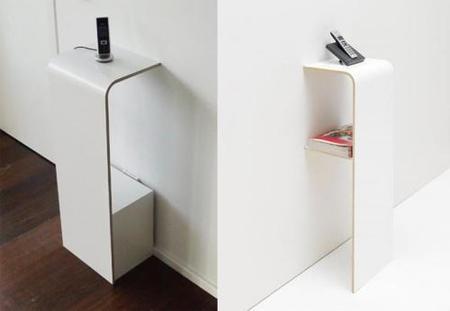 Muebles minimalistas para el teléfono