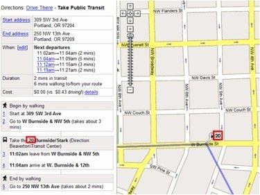 Google propone un estándar para las rutas en transporte público