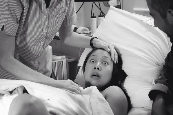 Cuando esperabas una niña y llega un niño se te queda esta cara de sorpresa