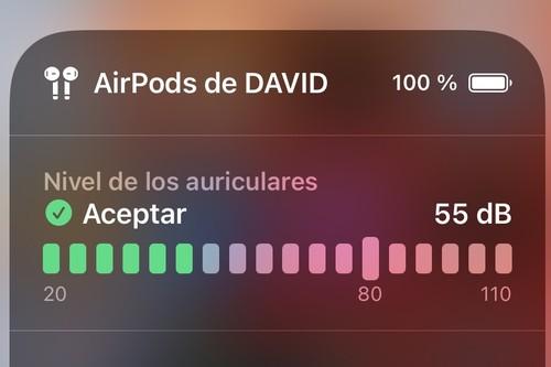 Cómo activar el medidor de nivel de sonido en tiempo real de nuestros auriculares en iOS 14