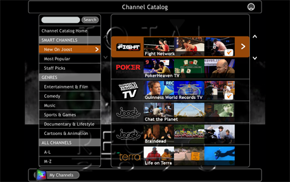 Joost dispondrá de canales en tiempo real