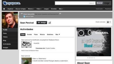 MySpace rediseña sus páginas de perfil