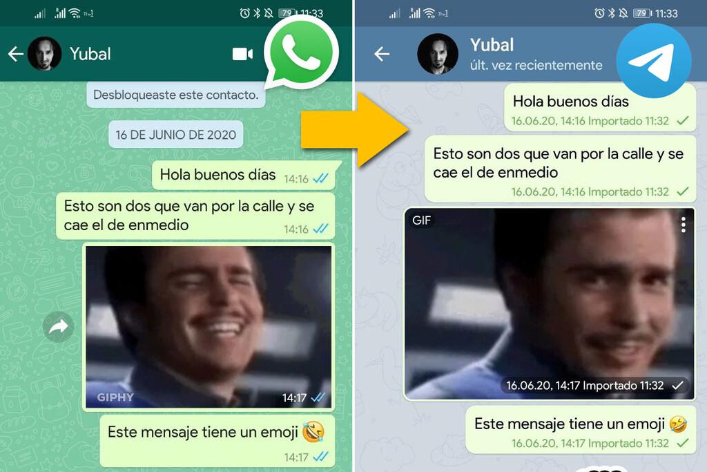 Cómo importar los chats de WhatsApp™ en Telegram™ con un teléfono Android
