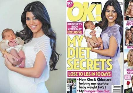 Kourtney Kardhasian denuncia a la revista 'OK!' por sacarla en portada con un cuerpo que no es el suyo
