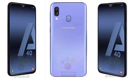 El Samsung Galaxy A40 aparece en unos renders que desvelan el puerto USB-C y otras características