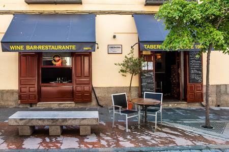 Fachada del restaurante Tabeneros, Madrid