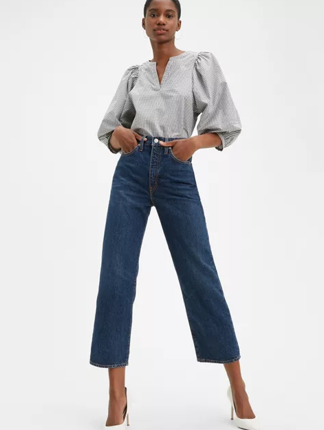 Levi's WellThread™ Ribcage Straight Ankle Jeans