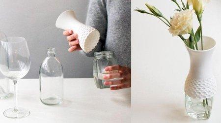 Una buena idea: jarrón adaptable a diferentes recipientes
