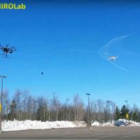 Abatiendo drones con Robotic Falcon, un dron disparador de redes