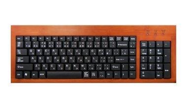 Un teclado de bambú