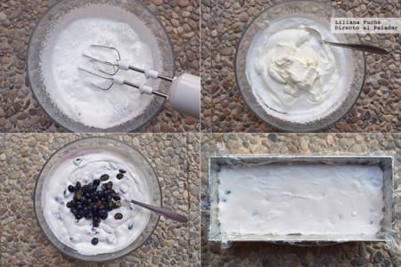 Semifrio de Cerezas y Arandanos. Pasos