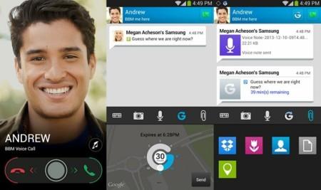 Llamadas de voz o integración con Dropbox