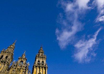 A Coruña y Santiago desde el cielo