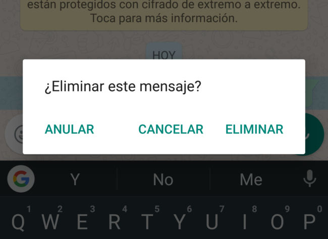 Whatsapp eliminar
