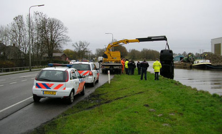 Ferrari 348 accidentado en Holanda