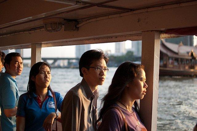 Barco público, Bangkok