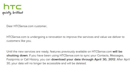 HTCSense.com cierra: descarga tus datos antes de que los borren
