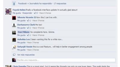 Por fin llegan los comentarios anidados a Facebook, pero no para todo el mundo