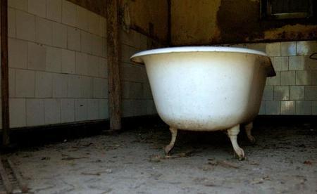 Bañera antigua de hierro