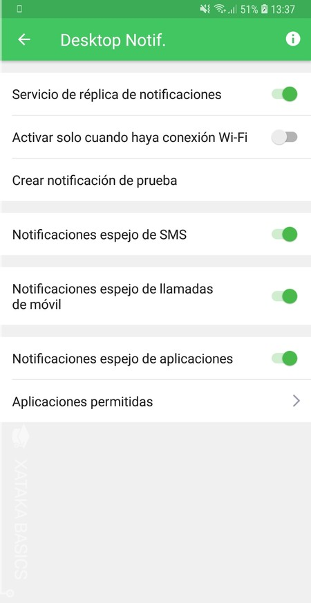 Menu Notificaciones