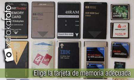 Elige la tarjeta de memoria adecuada